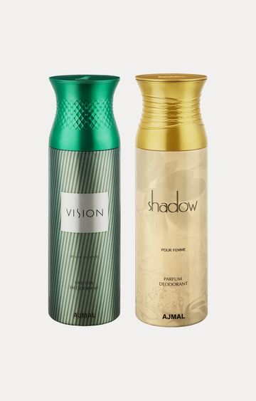 Ajmal | Vision and Shadow Her Deodorants - Pack of 2