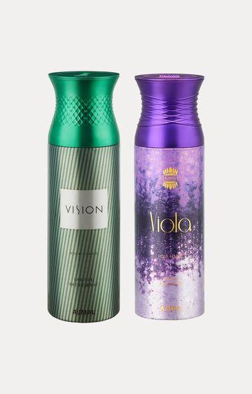 Ajmal   Vision and Viola Deodorants - Pack of 2