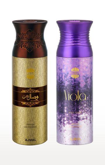 Ajmal | Wisal Dhahab and Viola Deodorant Spray - Pack of 2