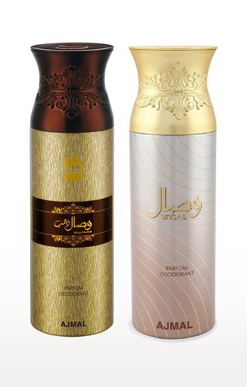 Ajmal | Wisal Dhahab and Wisal Deodorant Spray - Pack of 2