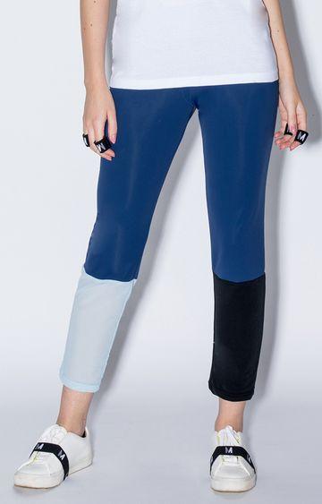 Myriad | Blue Colourblock Trackpants