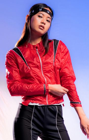 Myriad   Red Solid Activewear Jacket