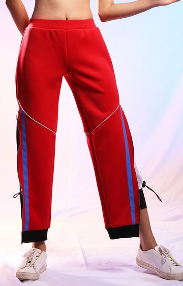 Myriad | Red Solid Trackpants