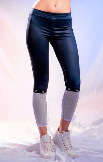 Myriad | Blue and Grey Colourblock Trackpants