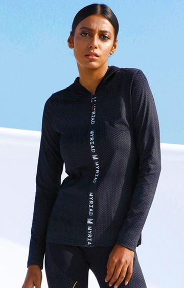 Myriad | Black Solid Activewear Jacket