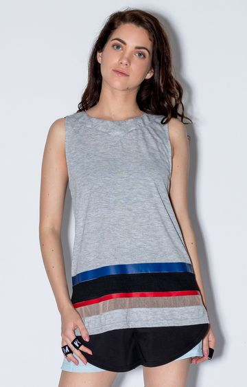 Myriad | Grey Striped T-Shirt