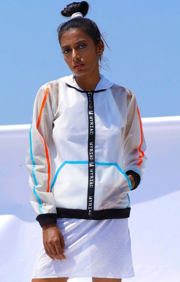 Myriad | White Striped Activewear Jacket