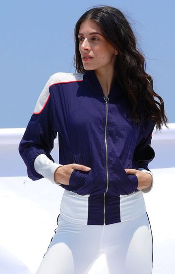 Myriad | Blue Colourblock Activewear Jacket