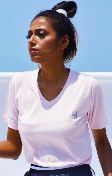 Myriad | Pink Solid T-Shirt