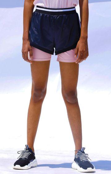 Myriad | Navy Solid Shorts