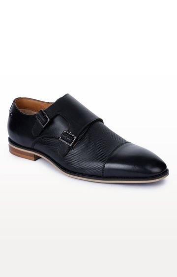 Liberty | Black Monk-strap Shoes