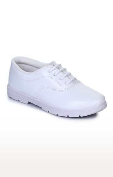 Liberty | Prefect by Liberty Unisex White School Shoes