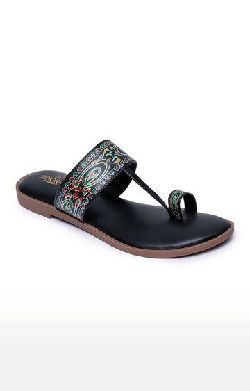 Liberty | Senorita by Liberty Black Ethnic Sandals