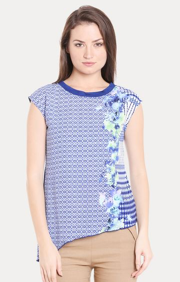 109F | Blue Printed Top