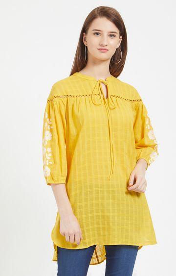 109F | Yellow Checked Tunic