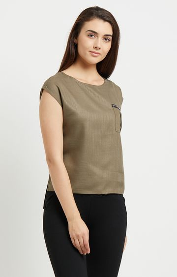 109F | Olive Solid Top