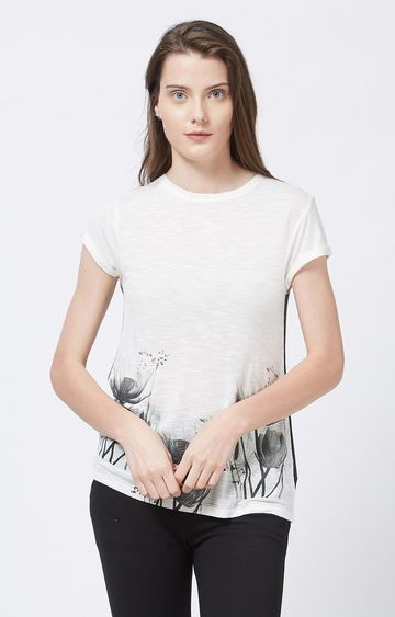 109F | Off White Printed T-Shirt