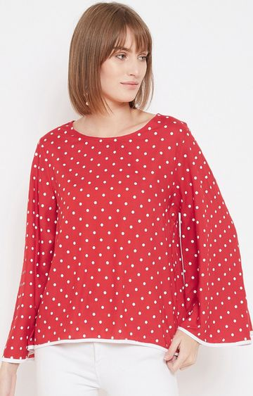 METTLE | Red Polka Dots Top