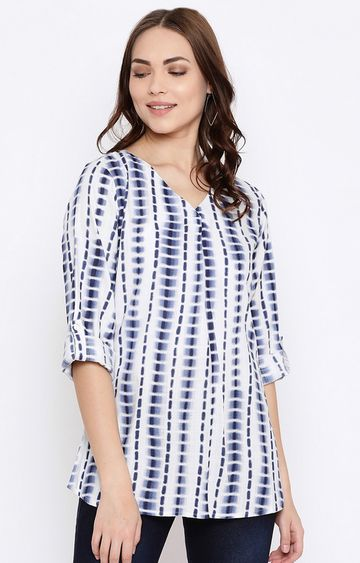 METTLE | White Printed Top