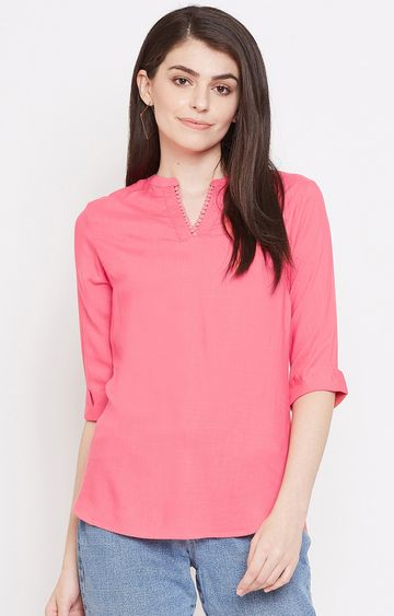 METTLE | Hot Pink Solid Tunic