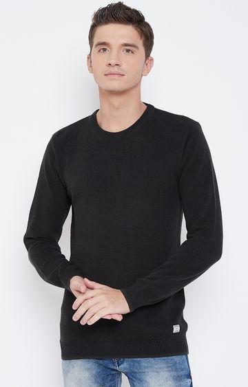 METTLE   Black Printed Sweatshirt
