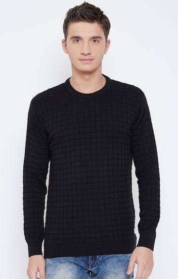 METTLE   Black Checked Sweatshirt