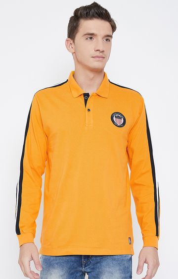 METTLE   Mustard Polo T-Shirt