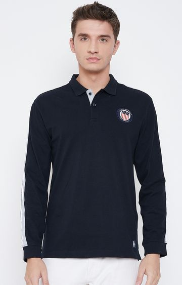 METTLE   Navy Polo T-Shirt