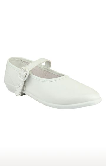 Rex | White School Shoes