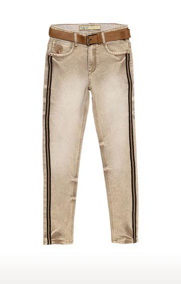 Tadpole | Khaki Solid Regular-Fit Jeans