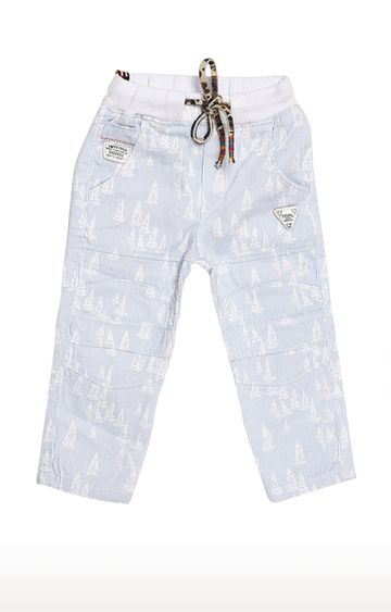 Tadpole | Blue Printed Trousers