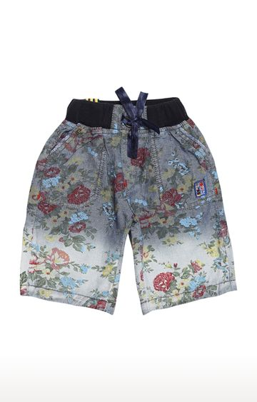 Tadpole | Blue Printed Casual Shorts