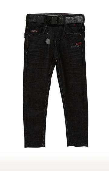 Tadpole | Black Solid Regular-Fit Jeans