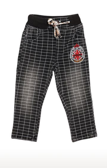 Tadpole | Black Checked Trousers