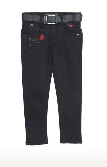 Tadpole   Black Solid Regular-Fit Jeans