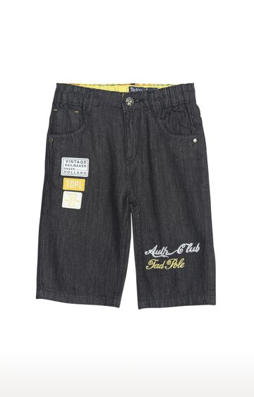Tadpole | Black Melange Casual Shorts