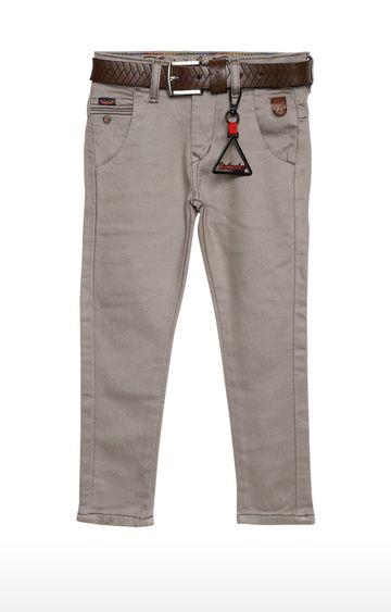 Tadpole | Beige Solid Regular-Fit Jeans