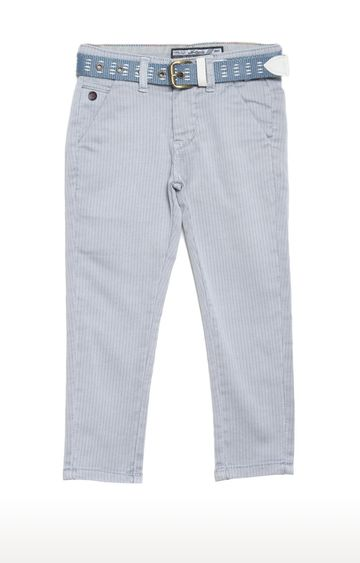 Tadpole | Grey Striped Regular-Fit Jeans