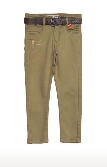 Tadpole   Khaki Solid Regular-Fit Jeans