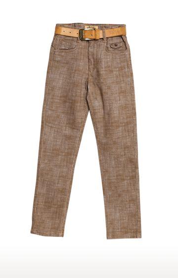Tadpole   Brown Melange Regular-Fit Jeans