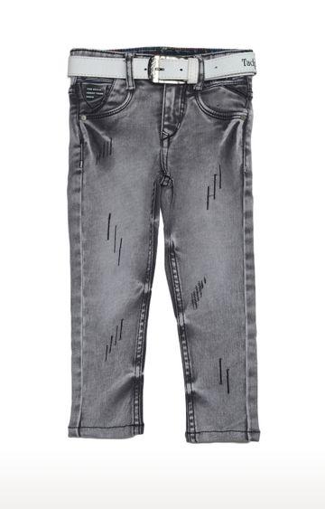 Tadpole   Grey Solid Regular-Fit Jeans