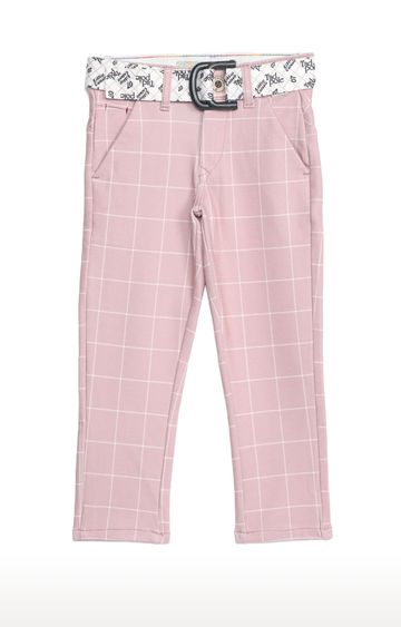 Tadpole | Pink Checked Regular-Fit Jeans