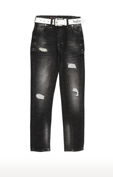 Tadpole | Black Solid Regular-Fit Jeans