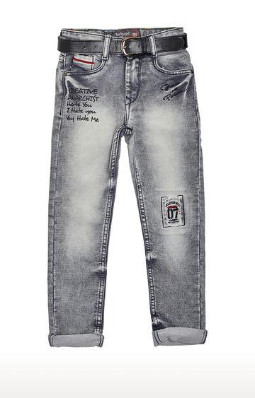 Tadpole | Grey Printed Jeans