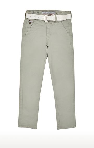 Tadpole | Green Solid Jeans