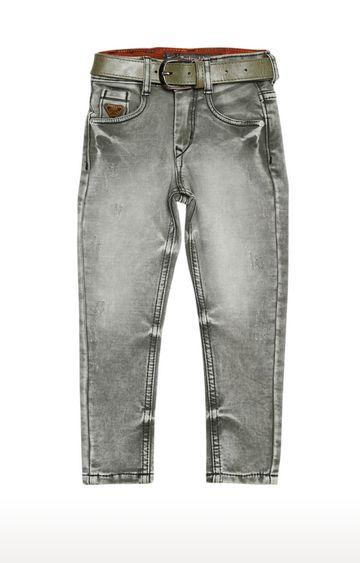Tadpole | Green Solid Regular-Fit Jeans