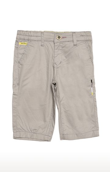 Tadpole | Grey Solid Casual Shorts