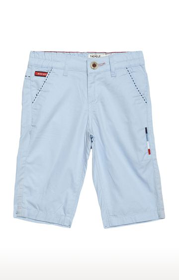 Tadpole | Blue Solid Casual Shorts