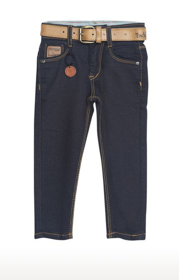 Tadpole | Blue Solid Regular-Fit Jeans