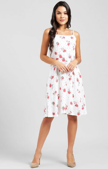 Zink London | Off White Floral Skater Dress